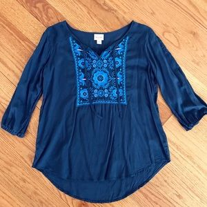 Tops - Navy Bohemian Tunic